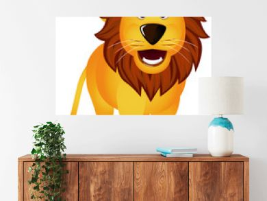 Funny lion isolated