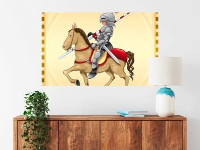 Knight and Horse with Background