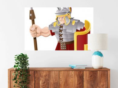 Strong Roman Soldier Illustration