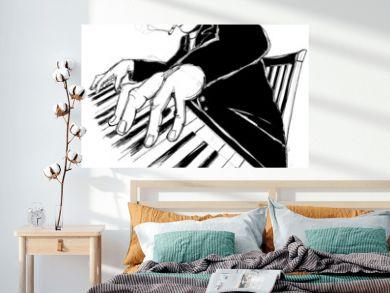 Ragtime pianist