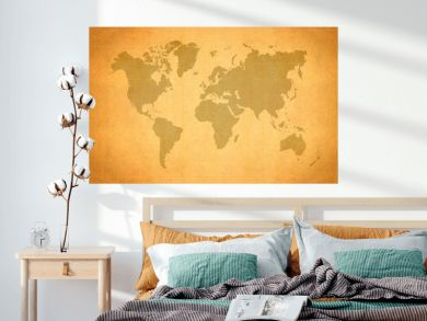 World Map, World background on grunge paper