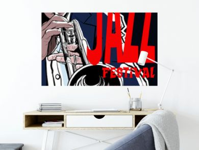 Jazz poster with trumpeter