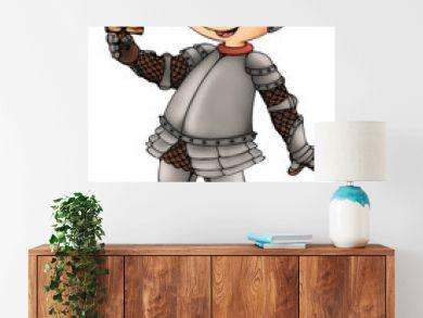 Ritter, Junge, Kind, Rüstung, Schwert