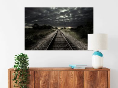 Vintage railroad track