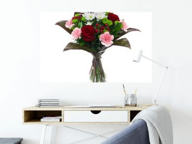 Beautiful bouquet of roses isolated