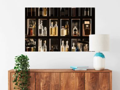 Alcohol Beverages Bar Shelf