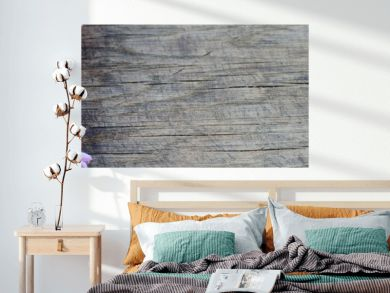 Banner of tender lilac flowers on rustic wooden background