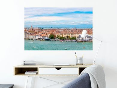 Very high resolution panoramic view of Venice on a beautiful day