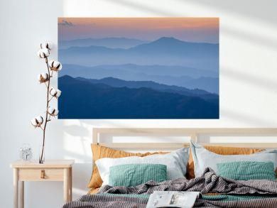 Landscape hill scene while sunset.