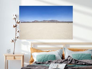 Silurian dry mud flat lake bed near Death Valley in California's vast Mojave desert.