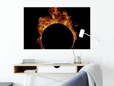 Ring fire in black