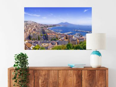 the beautiful coastline of napoli, italy