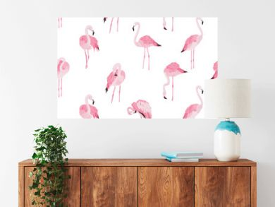 seamless flamingo pattern illustration