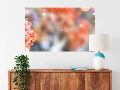 Beautiful blossoming spring tree with tender flowers. Banner design