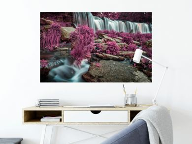 unusual fabulous view of a beautiful waterfall