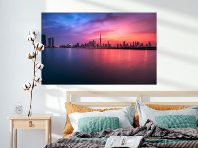 Dubai city center skyline, United Arab Emirates