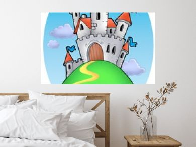 Fairy tale castle with clouds