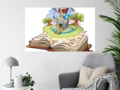 Magic world of tales, cartoon vector illustration