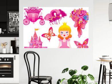 Fairy princess collection. Vector art-illustration.