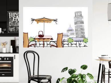 open-air cafe in Pisa