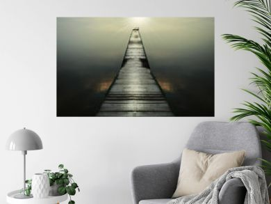 long wooden pier for boats