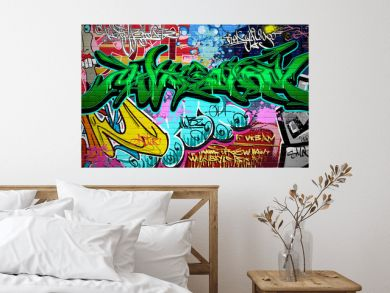 Graffiti Art Vector Background. Urban wall