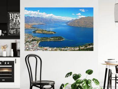 Queenstown, resort town in Otago in South island of New Zealand