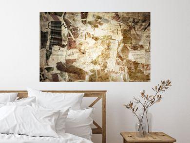 torn poster paper frame grunge background concept