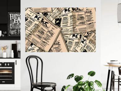 Newspaper vintage seamless background