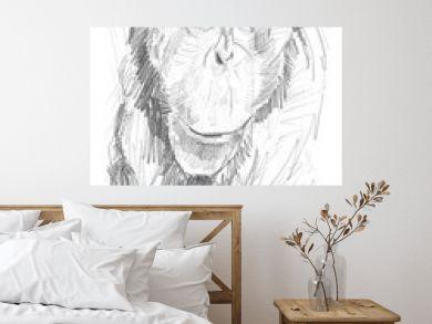 Retrato de un orangután