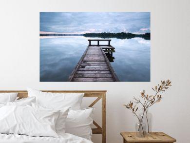 wooden pier on big lake