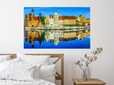 Cityscape of Gdansk in Poland,beautiful view of the old city