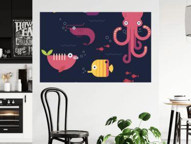 Flat design fishes. Part 3