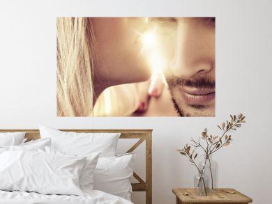 Closeup portrait of a romantic couple