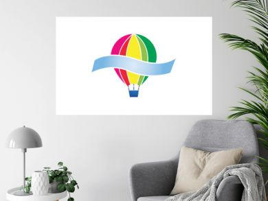 air balloon logo template