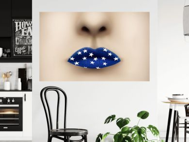 Blue Lips and White Stars