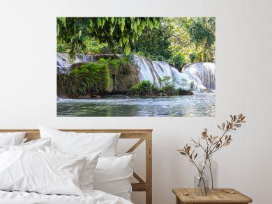 Panorama Chet Sao Noi waterfall in national park