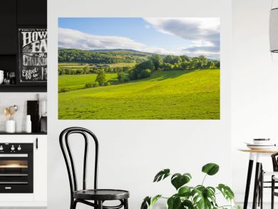Hilly scenic landscape near Killarney in Ireland in summer