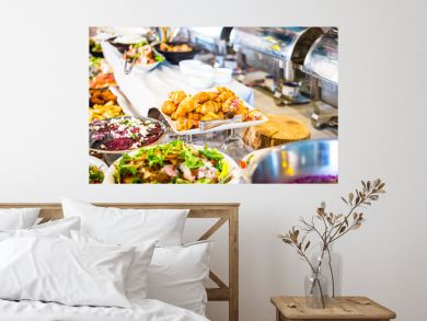 Breakfast Buffet Concept, Breakfast Time in Luxury Hotel, Brunch with Family in Restaurant