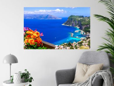 Italian summer holidays - beautiful Capri island, Campania, Italy
