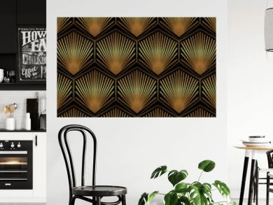 Vintage Art Deco Seamless Pattern. Geometric decorative digital papers. Vector line design. 1920-30s motifs. Luxury vintage illustration