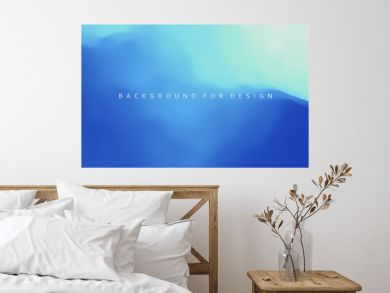 Blue abstract ocean seascape. Sea surface. Water waves. Nature background. Vector illustration for design.