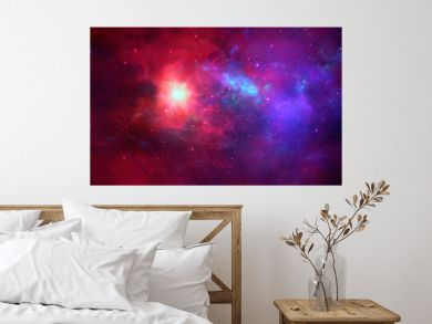 Space background. Colorful nebula with star field. Elements furnished by NASA. 3D rendering