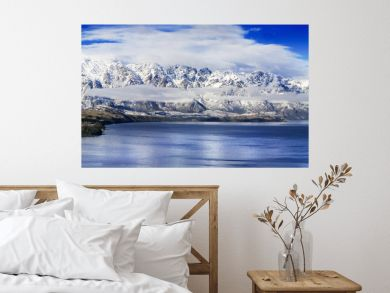 Panoramic of The Remarkables, a mountain range in New Zealand