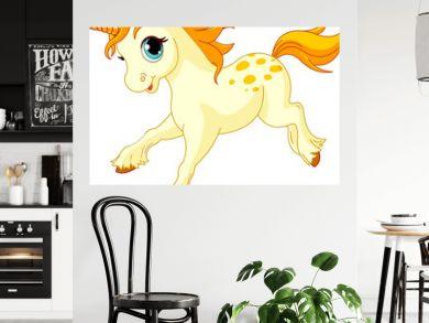 Running baby unicorn