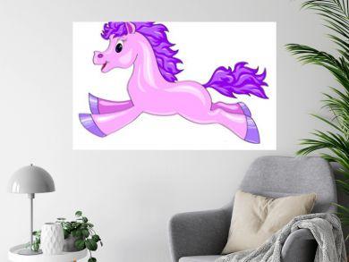 a small purple horse
