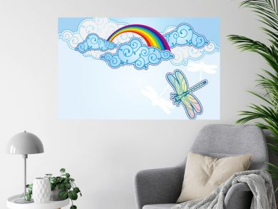 Cartoon style sky background