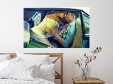 Erotic scene of the young sensual couple