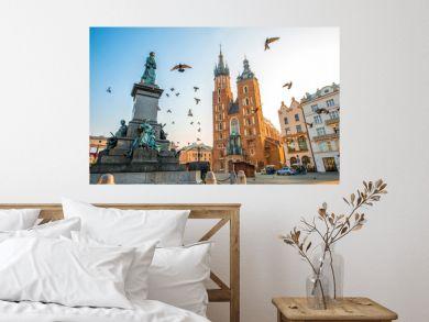 Old city center view in Krakow