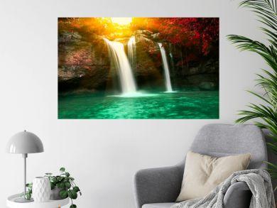 Haew Suwat waterfall in Kao Yai national park Thailand